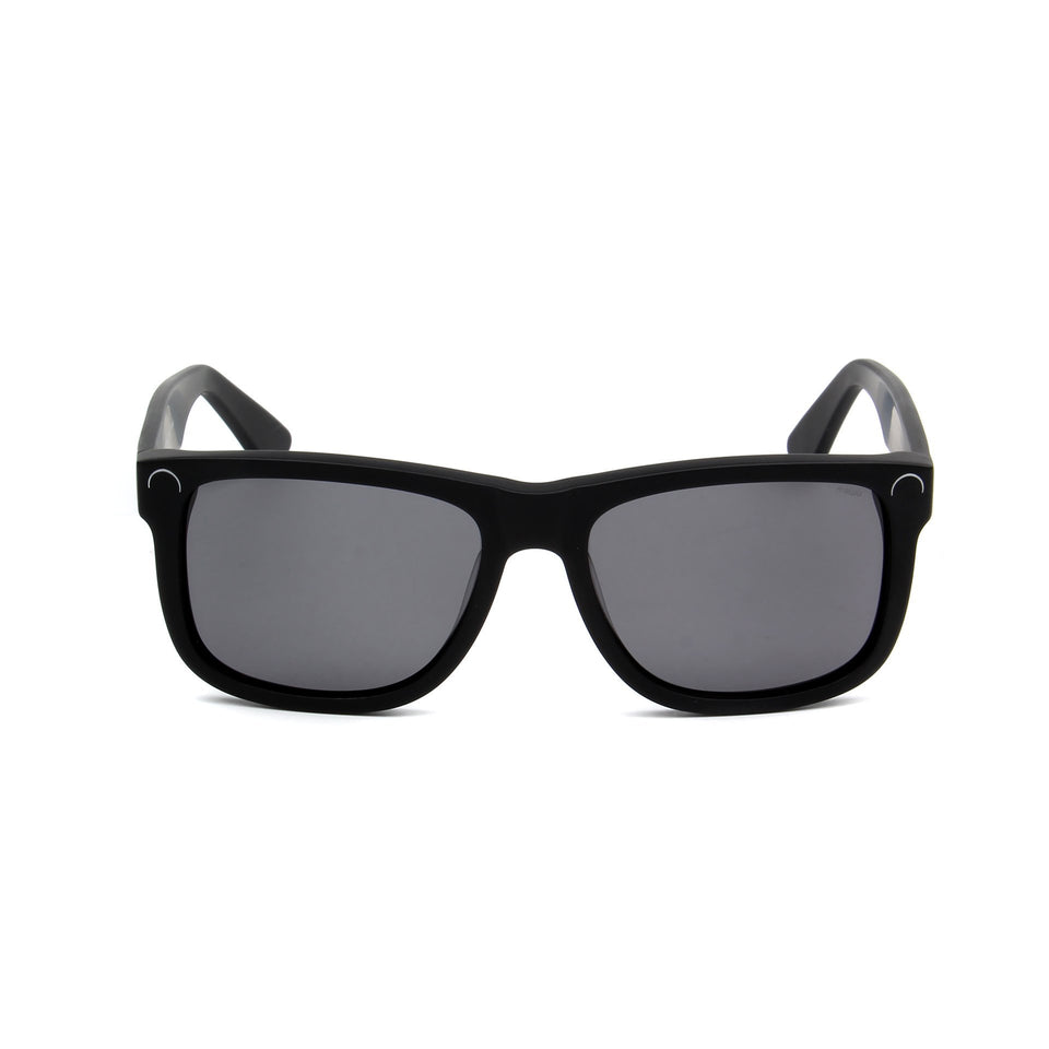 Corsica Matte Black - Front View - Grey lens - Mawu Sunglasses