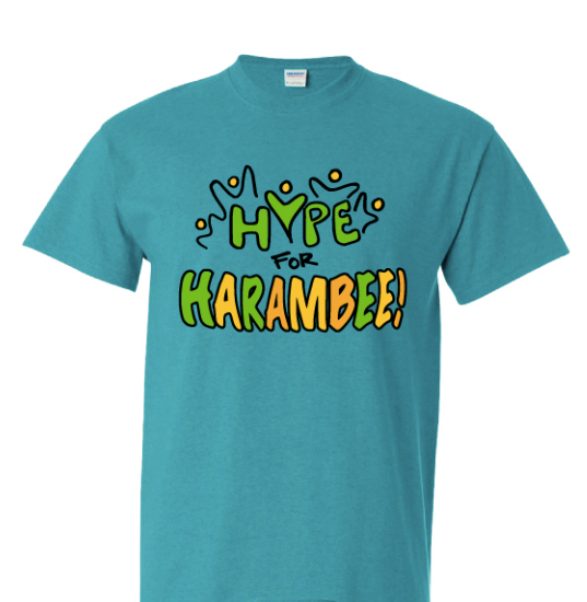 Hype for Harambee! t-shirt (Adult sizes)