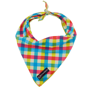 Oui Oui Frenchie Cooling Bandanas Oui Oui Frenchie Cooling Bandana - Colorful Plaid