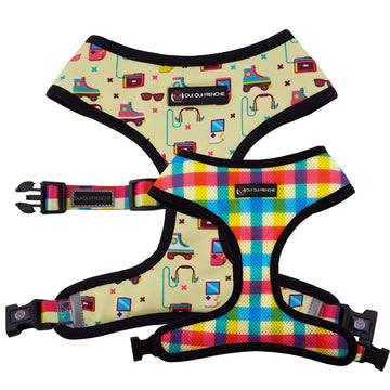 Oui Oui Frenchie Reversible Harnesses Oui Oui Frenchie Reversible Harness - 80s