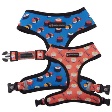 Oui Oui Frenchie Reversible Harnesses Oui Oui Frenchie Reversible Harness - Sushi