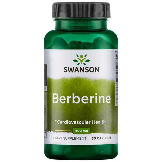 Swanson Premium Berberine 400mg 60 Capsules - Dietary Supplement