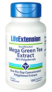 Life Extension Mega Green Tea Extract Decaffeinated 100 Veggie Caps