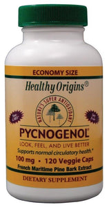 Healthy Origins Pycnogenol 100mg 120 Veggie Caps - Dietary Supplement