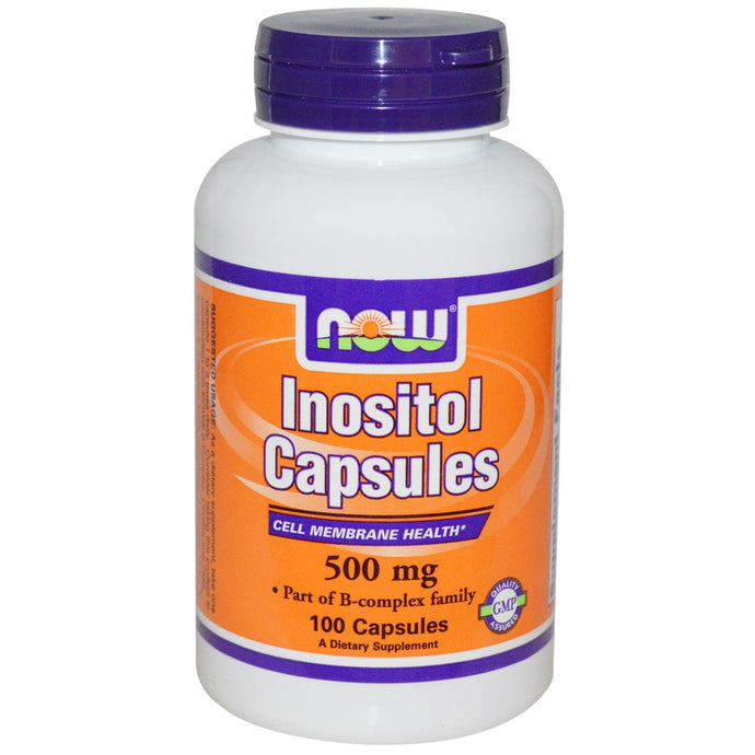 Now Foods Inositol Capsules 500mg 100 Capsules - Dietary Supplement