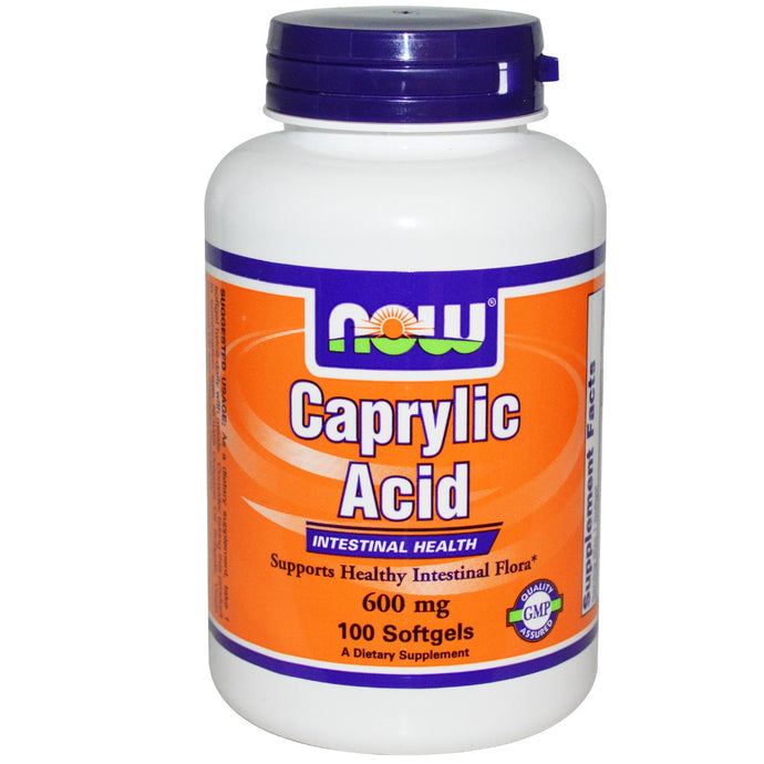 Now Foods Caprylic Acid 600mg 100 Softgels  - Dietary Supplement