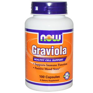 Now Foods Graviola 100 Capsules - Dietary Supplement