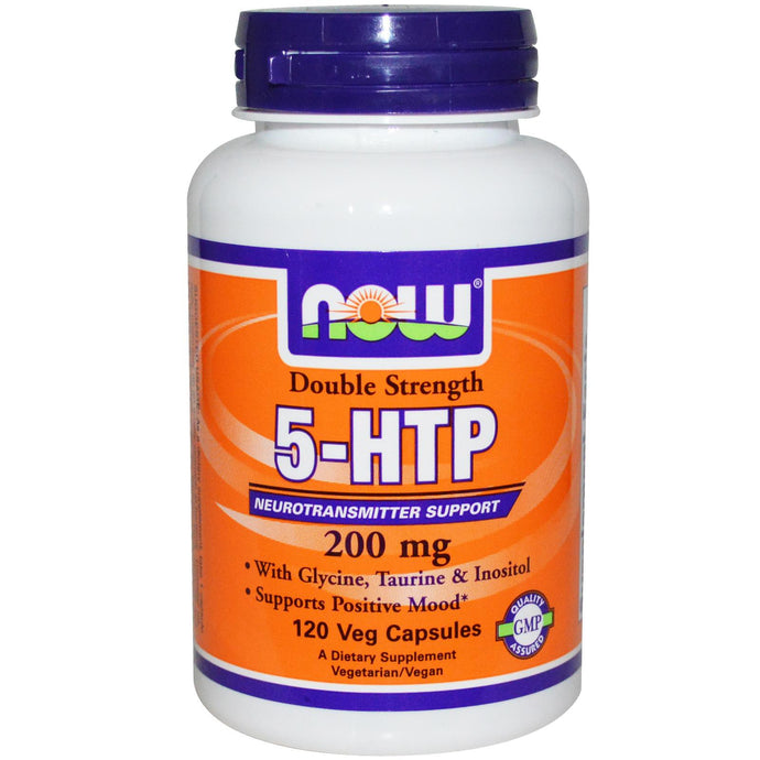 Now Foods 5-HTP Double Strength 200 mg 120 Veggie Capsules