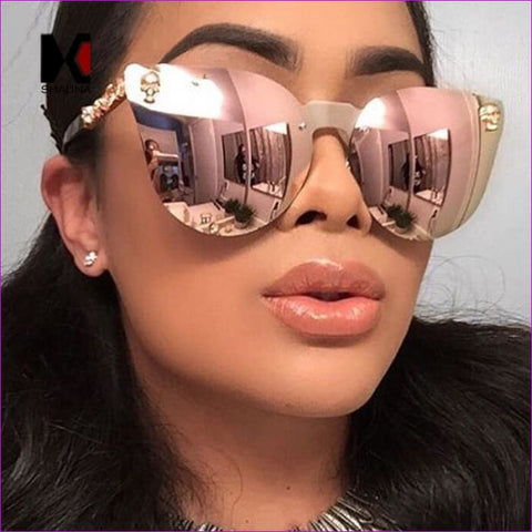 Women Retro Classic Oval Sunglasses Coating Mirror Lens Shades Oculos