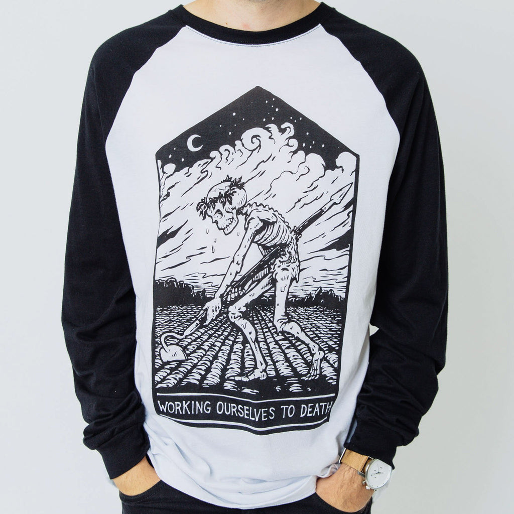 Work to Death Raglan