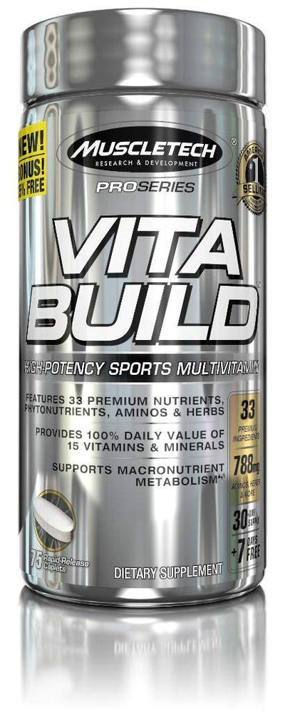 MUSCLETECH PROSERIES VITA BUILD 75CAPLATE