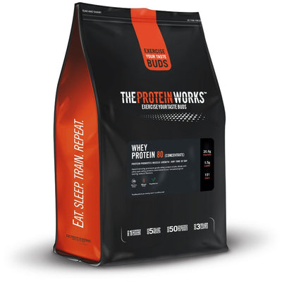 The Protein Works Whey Protein 80(Con) 2kg Strawberry N Cream