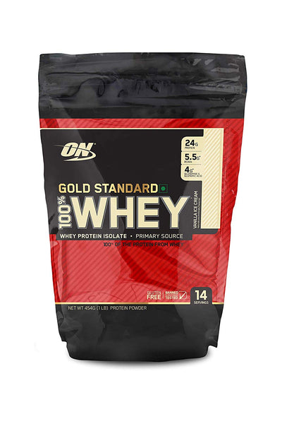 Optimum Nutririon Whey Gold 1LBS Vanila Ice Cream