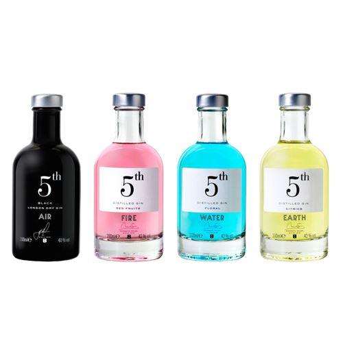 5th Gin 4 x 20cl Gift Pack 42% ABV