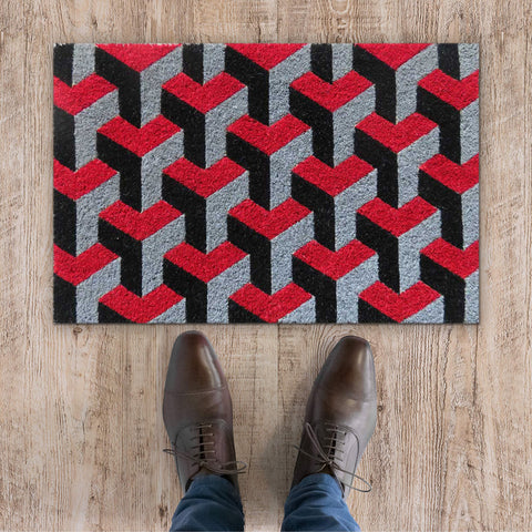 3D design coir door mat