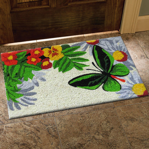 Butterfly in the garden mat