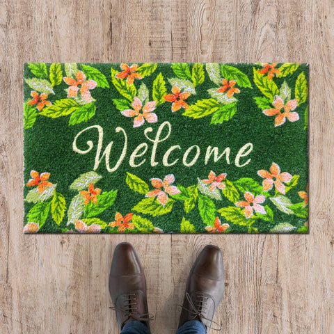 ATMAH Welcome to Spring coir door mat