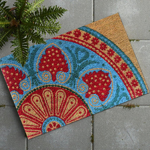 Desi design coir door mat