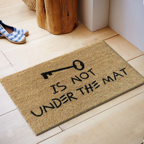 Key is not under the mat coir door mat