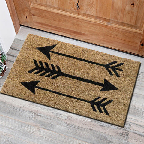 Arrows design coir door mat