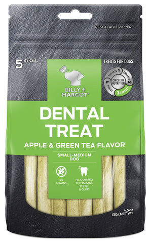 BILLY & MARGOT DENTAL APPLE SMALL/MED 5pc - Humble Pet Products