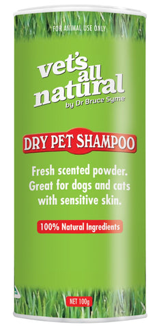 VETS ALL NATURAL DRY PET SHAMPOO 100G