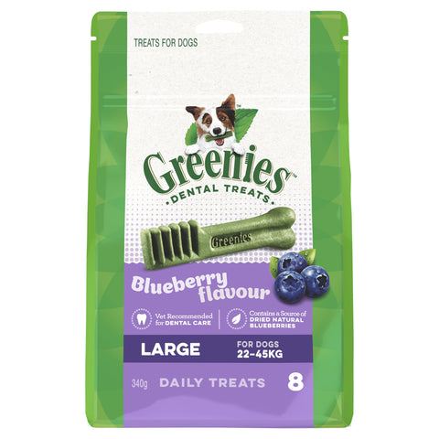 GREENIES BLUEBERRY LARGE 340G - Humble Pet Products