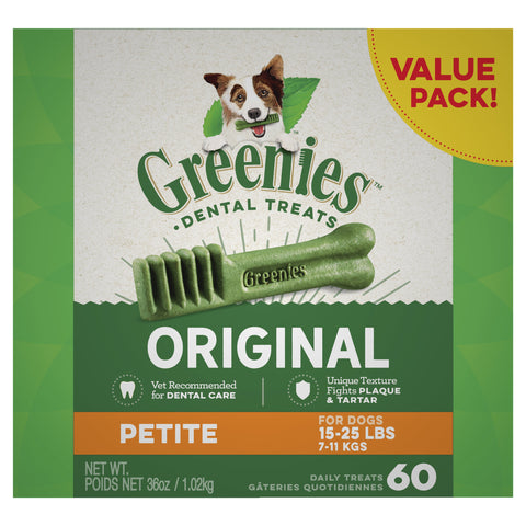 GREENIES Dog Original Value Pack Petite 1kg - Humble Pet Products
