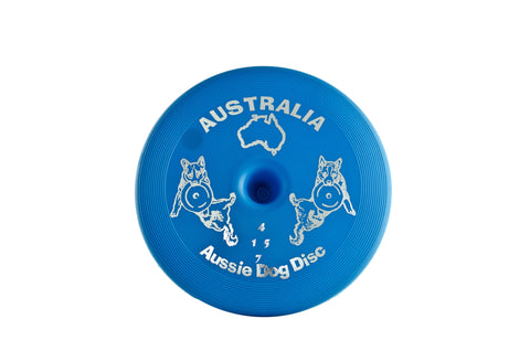 AUSSIE DOG SOFT BLUE FLOATING DISC - Humble Pet Products