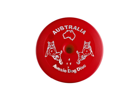 AUSSIE DOG HARD RED FLOATING DISC - Humble Pet Products
