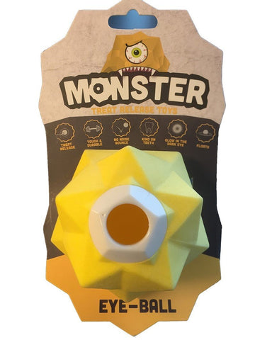 AUSSIE DOG MONSTER TREAT TOY YELLOW - Humble Pet Products
