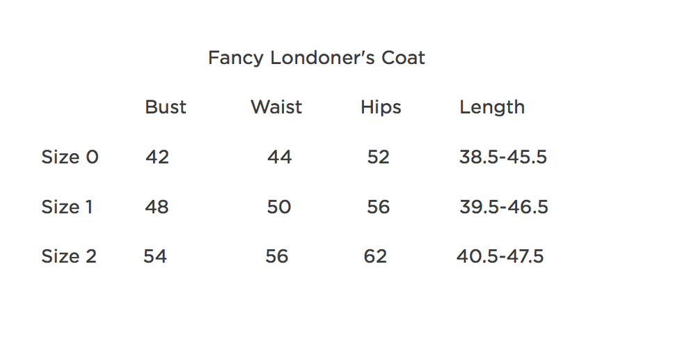 Fancy Londoner's Coat - 200 weight