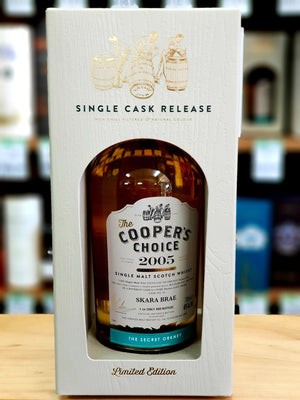The Cooper's Choice 700ml 46% Skara Brae Secret Orkney 12 Year Old 2005 (cask 20)-Scottish Single Malts Highland-Eight PM