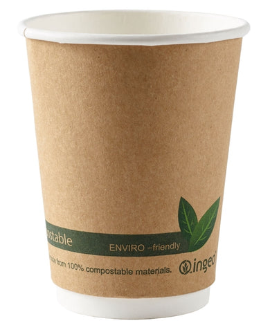 Compostable Brown Double Wall Premium Coffee Cups