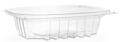 Compostable Clear Rectangular Biodegradable Deli Container - 8oz