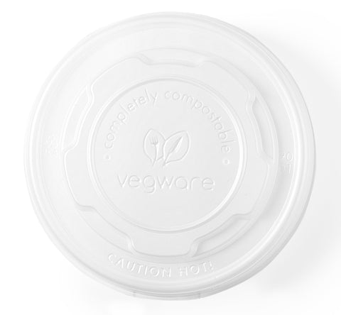 Compostable Flat Lid for Soup / Ice Cream Containers - Small
