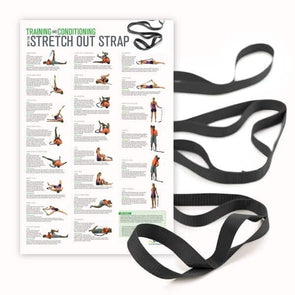 OPTP Stretch Out Strap XL with Training & Conditioning Poster - Senior.com Stretching Equipment