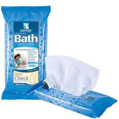 Sage Comfort Bath Rinse Free Cleansing Washcloths - Pack of 8 - Senior.com Body Wash