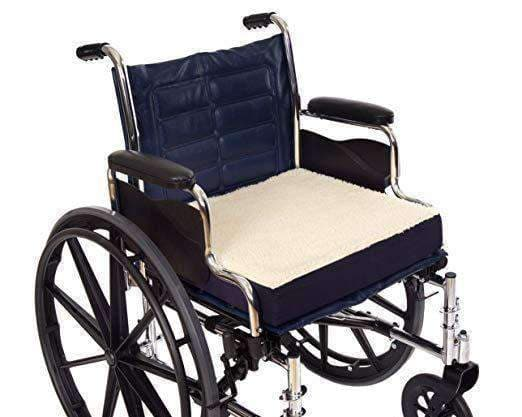 Essential Medical supply Fleece Covered Wheelchair Cushions - Senior.com Wheelchair Parts & Accessories