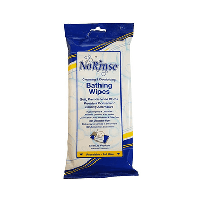 Clean Life No Rinse Bathing Wipes – 8 Per Pack - Senior.com Bathing Wipes