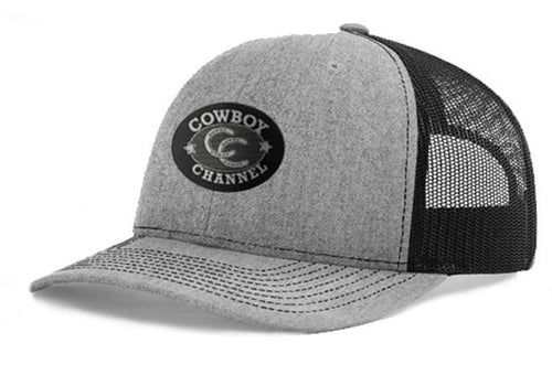 Cowboy Channel Mesh Cap - Heather Gray & Black
