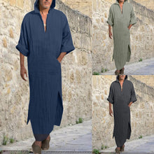Load image into Gallery viewer, Mens Dress Linen Loose Ethnic Robes