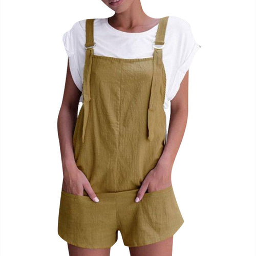 Fashion Pockets Shorts Overall Jumpsuits
