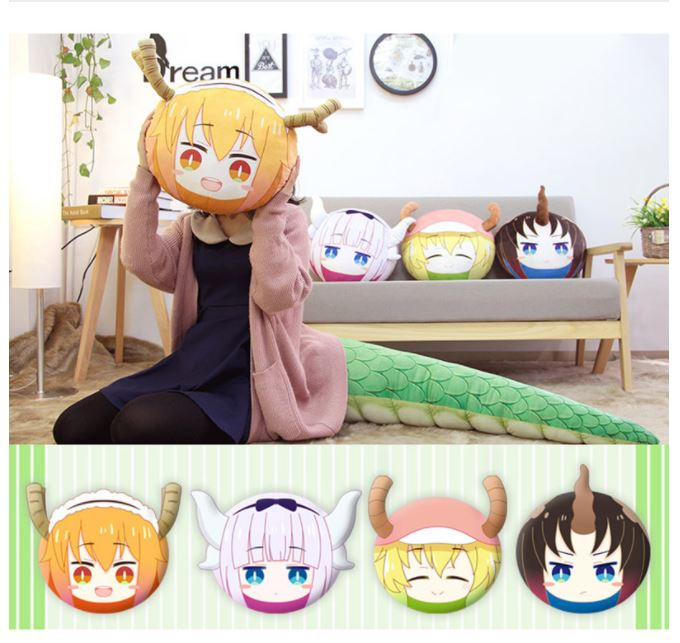 Miss Kobayashi's Dragon Maid Tohru Face Plush Pillow