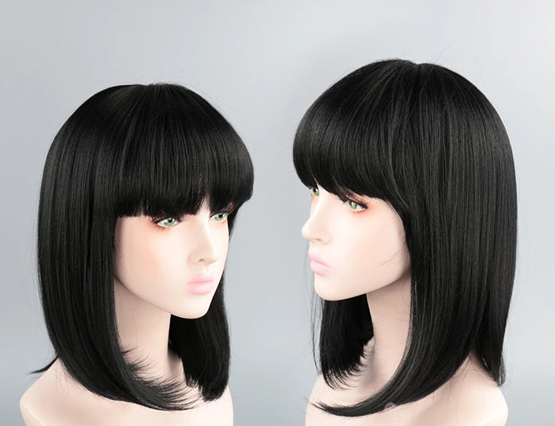 Cosplay-FTW 40cm Black Bob Cut Cosplay Wig