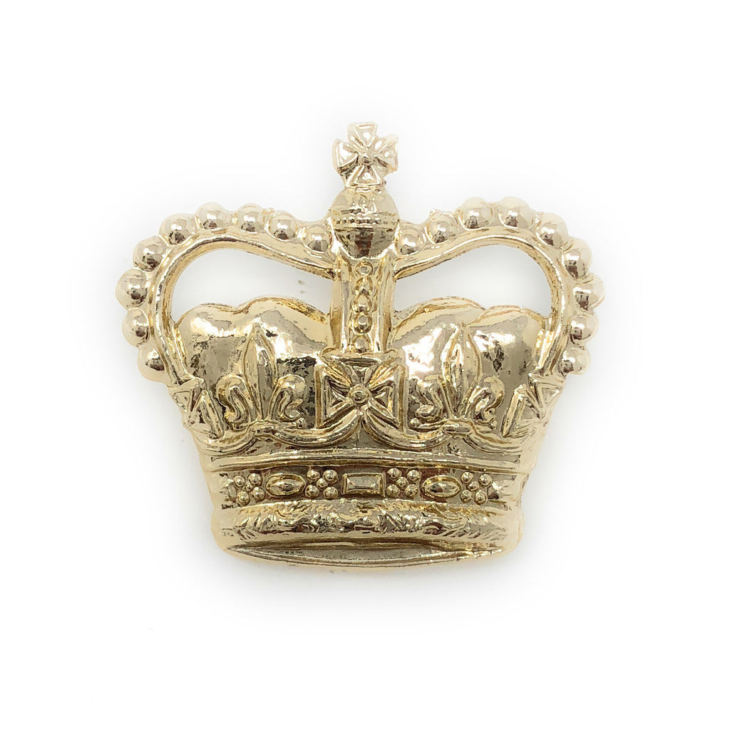 "Eversleigh Crowns 3/4"" - Anodised Gilt - Spike & Clutch Fitting"