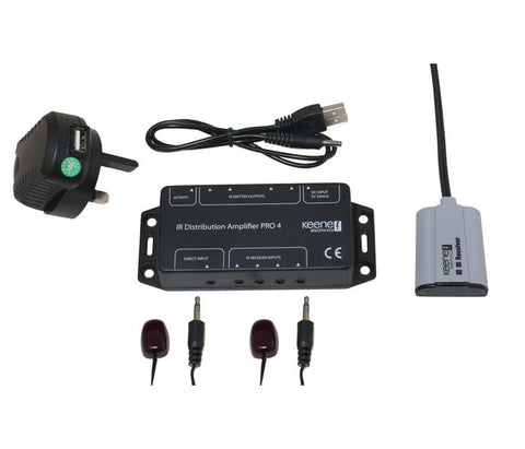 IR Distribution Amplifier Kit Pro4 Including Standard Receiver IRPKIT4S2 - k2audio
