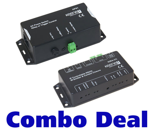 Keene KIRACC IP Contact Closure Module Plus KPS1 Powerswitch deal KIRACCDEAL - k2audio