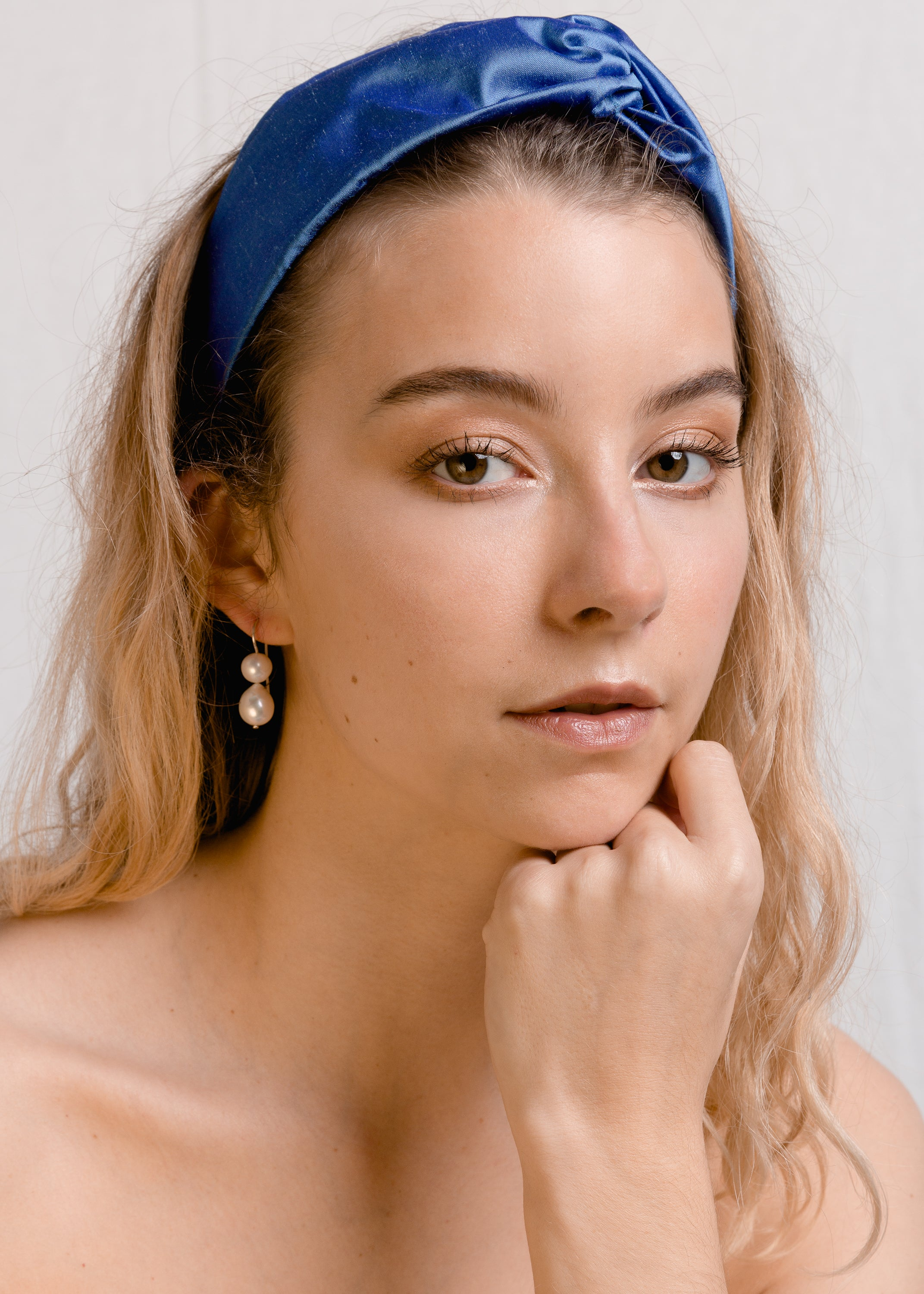 Marnie : Cornflower blue silk