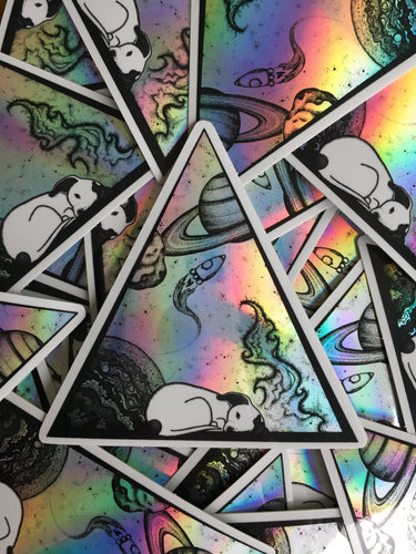 Space Dog - Holographic Sticker